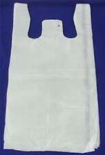 "T-Shirt Bags 10 x 6"" x 21"" White Plastic  Shopping bags"