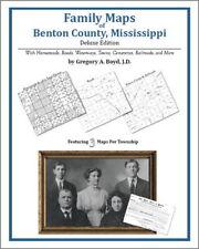 Family Maps Benton County Mississippi Genealogy MS Plat