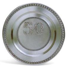 Der handgegossene  Zinnteller zum 50 jährigen Jubiläum - incl. Gravur der Teller