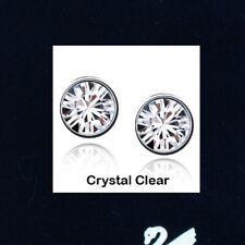 1pair x 18K W GP Studs EARRINGS made with 7mm Genuine SWAROVSKI Crystal Elements