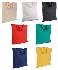 50 pezzi Shopper borsa spesa cotone 140 g/m2 manici corti 38x42cm/manici 34x2cm