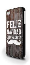 FELIZ NAVIDAD BITCHACHOS Hipster Cover Custodia Per iPhone 4/4s 5/5s 5c 6 6 Plus