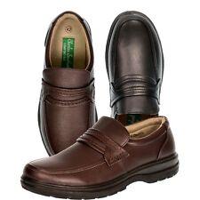S504-De Hombre Slip on Flat Mocasines Zapatos INFORMALES FORMAL TRABAJO DE OFICINA-Reino Unido 7 - 12