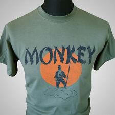 Monkey Magic (Green) TV Themed Retro T Shirt Martial Arts Kung Fu Cult