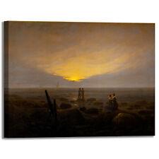Caspar sorgere della luna al mare quadro stampa tela dipinto telaio arredo casa