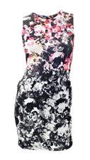 Topshop Floral Print Black Scuba Bodycon Sleeveless Mini Dress