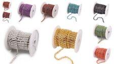 1m Strassband mehrere Farben strass borte  dekoband strasssteine
