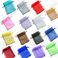 ORGANZA GIFT BAGS 9cm x 12cm ORGANZA POUCHES WEDDING FAVOUR BAGS