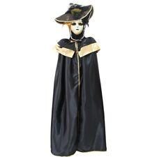 VESTITO COSTUME Maschera di CARNEVALE Adulti DOMINO pajette nero