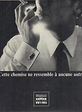 PUBLICITE  1967  ROYALTEX DIOLEN COTTON  chemise