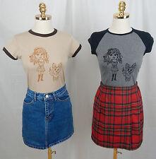 Girl & Puppy Ribbed Cap Sleeve Contrast tee AU Sizes 6-8 Beige/Brown Grey/Black