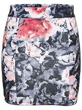 ONLY *** Damen Rock Minirock Blumen Flowers Strech schwarz rot grau XS S M L XL
