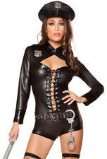 Roma black female lace up romper police costume