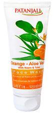 Patanjali Herbal Orange Aloe Vera With Neem & Tulsi Face Wash 60 gm