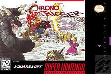 RGC Huge Poster - Chrono Trigger Super Nintendo SNES BOX ART - CHO010