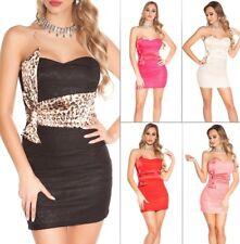 Koucla Dress Cocktail Kleid Party Minikleid Abendkleid  Spitze Schleife