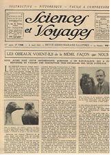 SCIENCES ET VOYAGES 1922 VUE DES OISEAUX CAMION  AFRIQUE JAPON POMMES DU CANADA