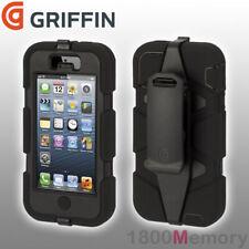 GENUINE Griffin Survivor Extreme Tough Case for Apple iPhone 5 5S SE Black Black