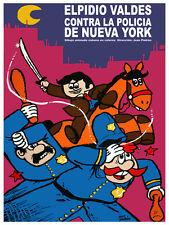 Elpidio Valdez contra un policia Decor Poster.Graphic Art Interior design.3306