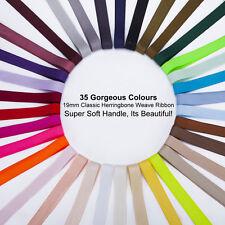 Herringbone Twill Ribbon Tape,Soft Handle,35 Colors,19mm Webbing Trims,Neotrims