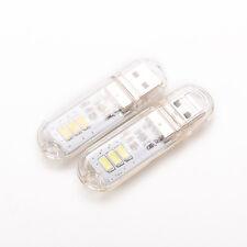 Mini USB Power 3 LED veilleuse U Disk forme lampe porte-clés ZJPU