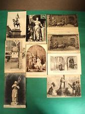 Lot 9 cartes postales anciennes JEANNE D'ARC Rouen Orléans CPA