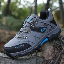 Men Hiking Shoes Waterproof Leather Mountain Climbing Outdoor Sport Trekking
