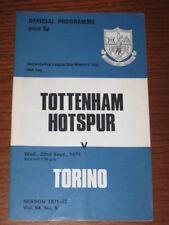 TOTTENHAM TORINO TORO PROGRAMMA FINALE COPPA 1971 RARO