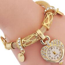 Women's Love Heart Bracelet Watch Charm Band Analog Quartz Wrist Watch Charm
