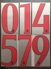 NUMBER / NUMERO AC MILAN AWAY FLOCAGE TRANSFERT STILSCREEN SERIE A 2015-16