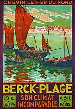 Affiche chemin de fer Nord - Berck 3