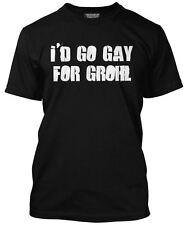 Nuevo yo iría gay para Grohl Foo Fighters álbum Dave Camiseta para hombre de cartel