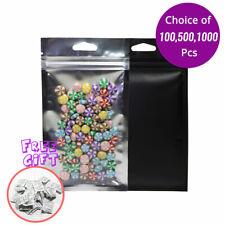 3.5x6in Black Matte Clear Mylar Zip Lock Bag w/Triangle holes & Desiccant S02