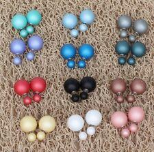 orecchini Doppia pallina perla satinati lucidi BUBBLE