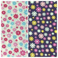 100% Algodón Tela metros Cortinas Craft Patchwork Costura Botón Flores de estrella