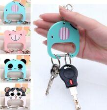 Cute Animal Keys Holder Keyring Keychain Car Novelty Gift Cat Elephant Bear UK