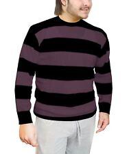 Da Uomo Nero E Viola A Righe A Maglia Adulti Halloween Fancy Dress Sweater