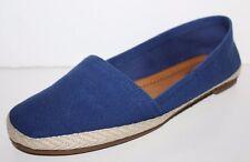 Lucky Brand NWOB Women's 7.5 Navy Blue Espadrille Canvas Slip On Shoes