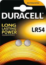 Duracell LR54 Batería Alcalina 1.5v Pilas De Botón Moneda 189 389A A05