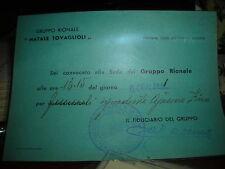 PNF INVITO GRUPPO RIONALE FASCISTA TOVAGLIOLI DI NOVARA  tst