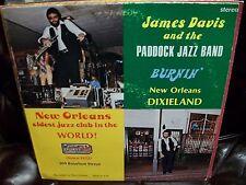 James Davis & the Paddock Jazz Band Burnin LP New Orleans Trumpet