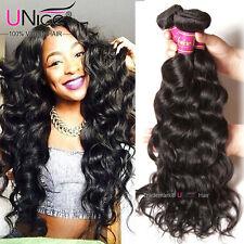 300g 8A Virgin Peruvian Natural Wave Human Hair 3 Bundles UNice Hair Extensions