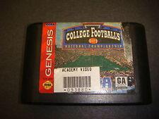 College Footballs National Championsip, ESPN, Sega Genesis Game,16-Bit Cartridge
