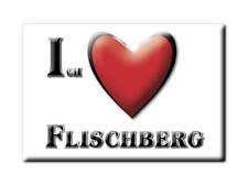 DEUTSCHLAND SOUVENIR - BAYERN KÜHLSCHRANKMAGNET ICH LIEBE FLISCHBERG (CHAM)