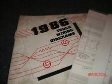 1986 FORD F600 - F800 F-600 F-800 CAB TRUCKS WIRING DIAGRAMS SCHEMATICS SHEETS