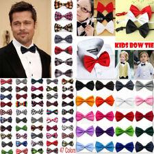 Lot 20Pcs Children Men Wedding Tuxedo Bowtie Boys Clip on Bow Ties Necktie Colar
