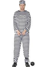 Adult Striped Prisoner Convict Costume