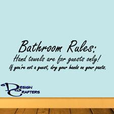 Bathroom Rules Home Office Restroom Potty Removable Vinyl Wall Door Art Decal
