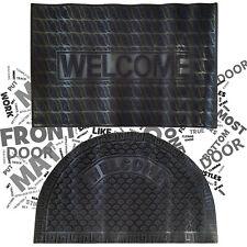 Non Slip Rubber Door Mat Heavy Duty Outdoor Front Doormat Carpet Welcome Design