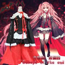 Anime Seraph of the end Krul Tepes Cosplay Lolita Dress Vampire Costume Uniform